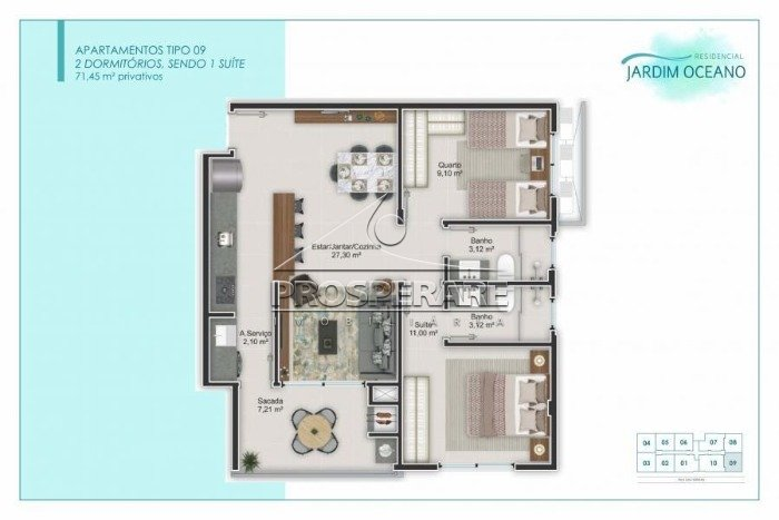 Jardim Oceano Apartamento Canasvieiras, Florianópolis (4331)