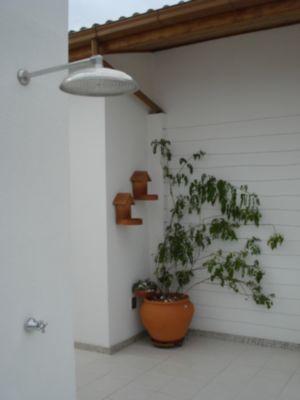Chuveiro no terraço